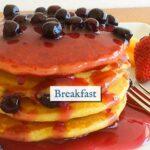 Lemon Blueberry Pancakes with fresh organic local blueberries