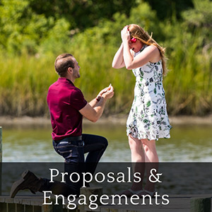 Marriage proposal on dock