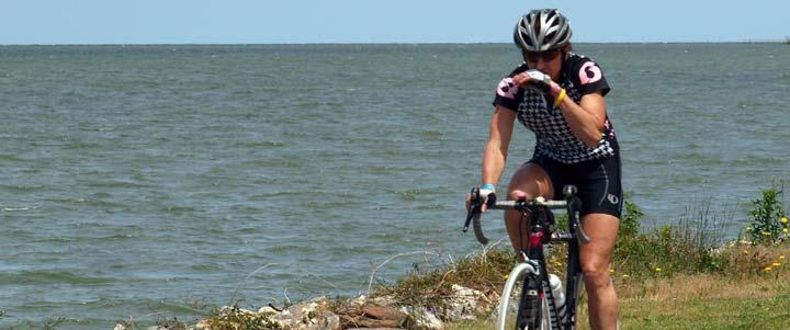 waterside cycling
