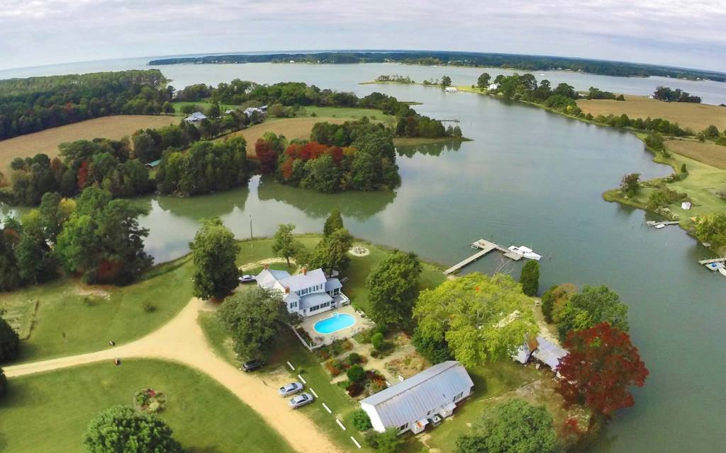 Waterfront B&B Aerial
