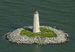 aerial view of lighthouse