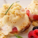 Eggs and crabmeat with sherry cream sauce