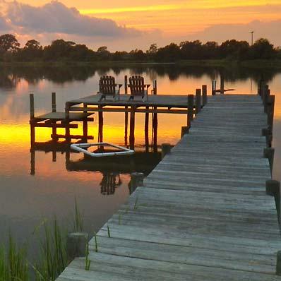 sunset on Tabbs Creek in Mathews