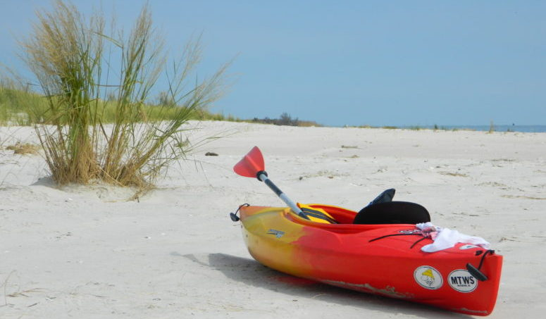 Kayaking at New Point Comfort Island