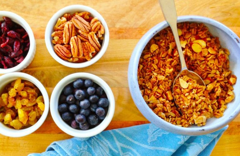 Gluten Free and Vegan Granola homemade at our Virginia Bed and Breakfast