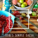 Lori's simple salsa recipe ingredients graphic