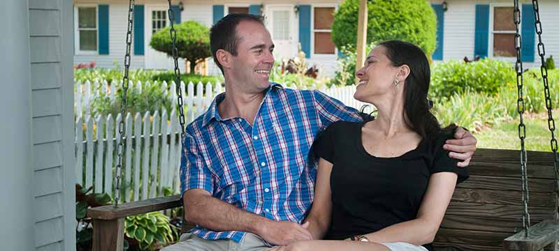 Couple on Anniversary get-away
