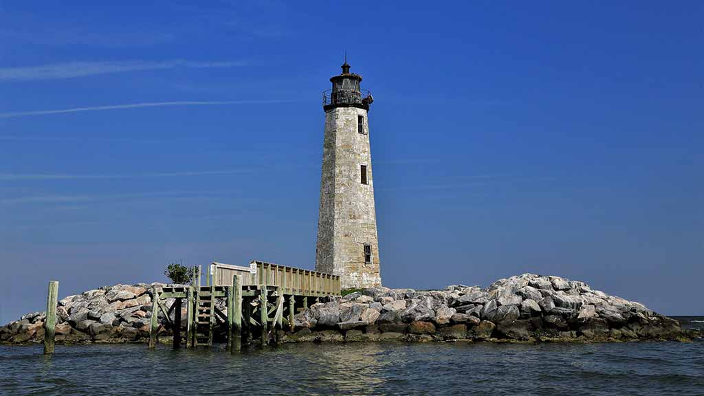 New Point Comfort Lighthouse in Mathews County Virginia